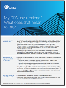 Tax extension FAQ cover